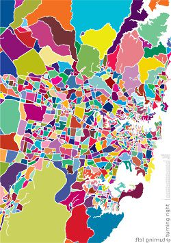 Work by Louisa Bufardeci, from the exhibition Mapping Sydney: A Unique Guide.