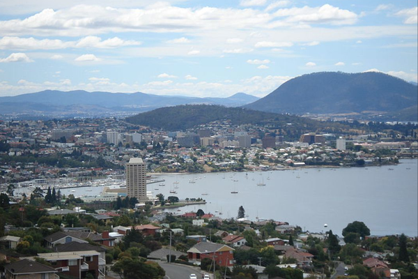 View of Hobart's CBD.
