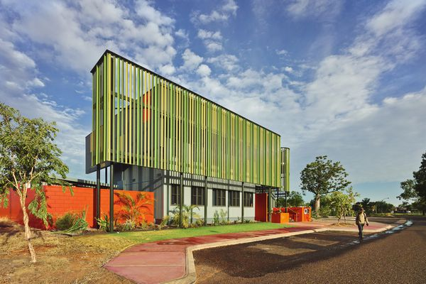 The MG/GT administration building in Kununurra, Western Australia by CODA Studio and Mark Phillips Architect (2013) services two Indigenous organizations in the wider Kimberley Region.