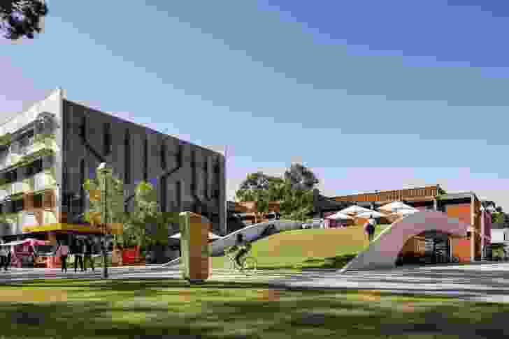Curtin Bicycle Hub by Coniglio Ainsworth Architects and Place Laboratory with Curtin University.