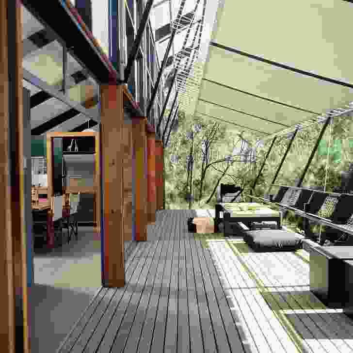 韦巴湖别墅的阳台。