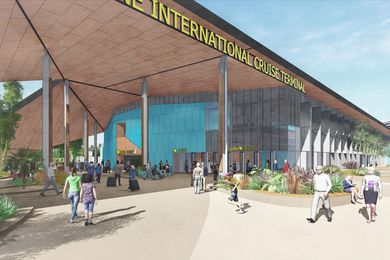 Brisbane International Cruise Terminal by  engineering and design consultants Arup in conjunction with architects Arkhefield.