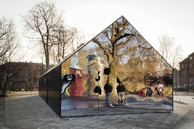 Mirror House by MLRP Architects reflects the play of children.