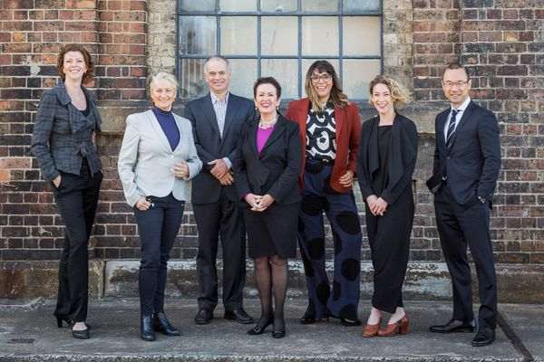 Clover Moore's 2016 Independent Team: Catherine Lezer, Kerryn Phelps, Philip Thalis, Clover Moore, Jess Scully, Jess Miller and Robert Kok.