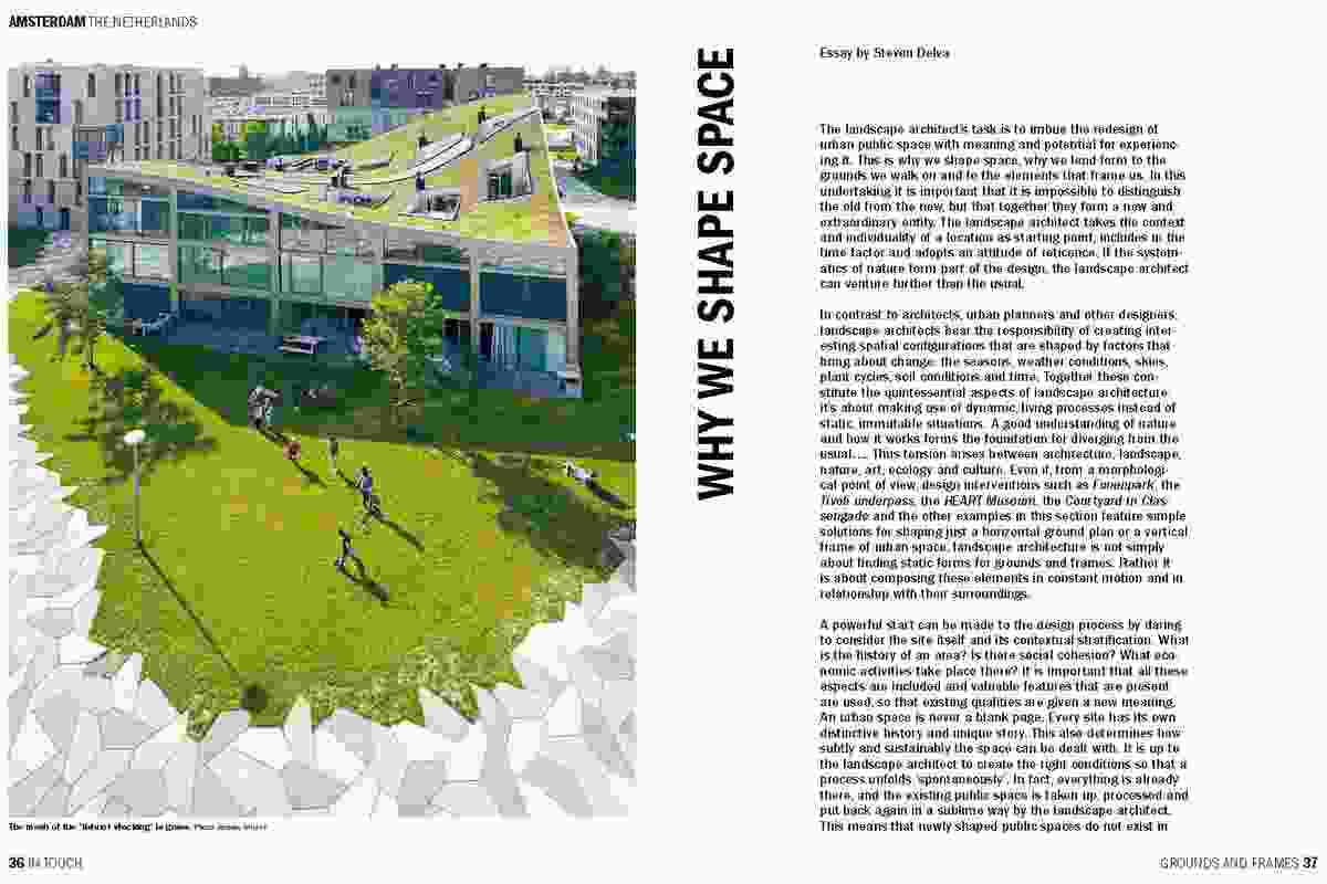 Spread from In Touch, showing Funenpark by Landlab.