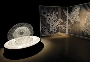 Intersect, 2011, by Tania Spencer, and Lace Fence by Joep Verhoeven of DEMAKERSVAN, part of Love Lace.