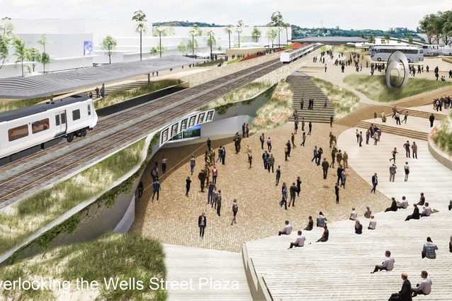 Proposal for the new Frankston railway station by Grimshaw.