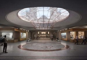 The proposed new southern entrance with a cone-shaped occulus designed by Scott Carver.