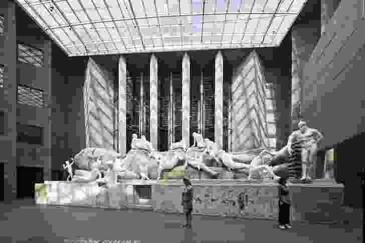 Installation view of Xu Zhen Eternity-Buddha at NGV Triennial at NGV International, 2017.