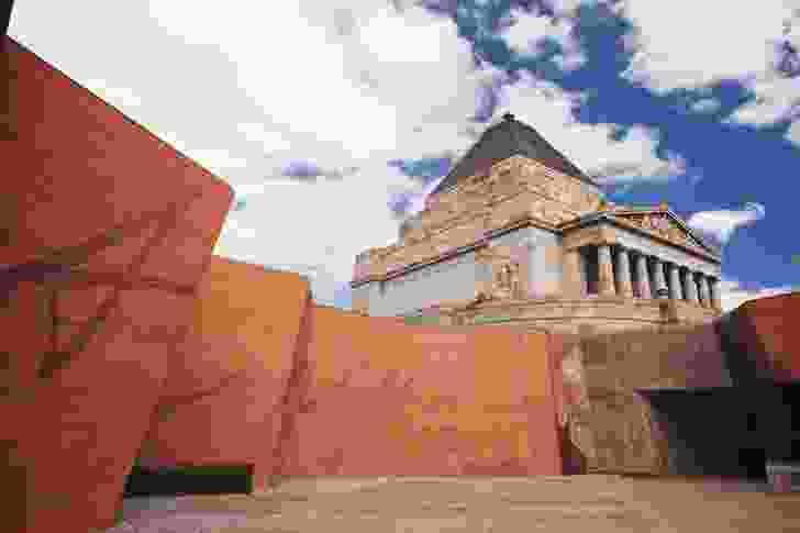 The Shrine of Remembrance forecourt designed by ARM Architecture.
