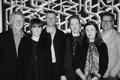 2014 Houses Awards jury (L–R): Peter Willams, Katelin Butler, William Smart, Emma Williamson, Maggie Edmond, Brian Donovan.