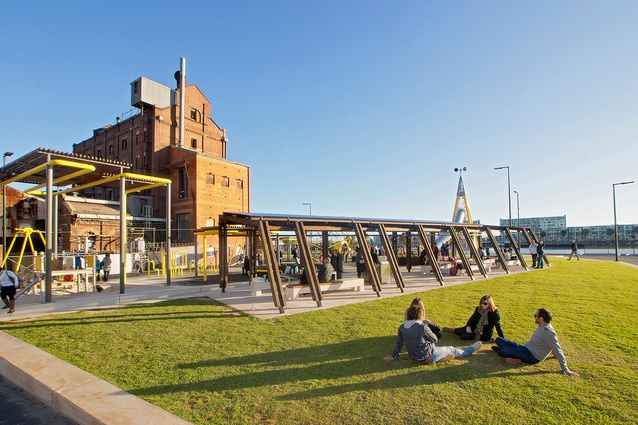 Port Adelaide Renewal: Hart's Mill Surrounds	 by Aspect Studios in association with Mulloway Studio.