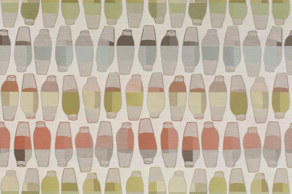 Vases upholstery fabric by Hella Jongerius in Citrus colour combination.