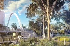 Australia's first diagonal span arch bridge mooted for Parramatta