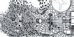 Plan of Goiânia by Attilio Corrêa Lima, with revisions by Armando de Godoy, 1934. Courtesy Christopher Vernon.