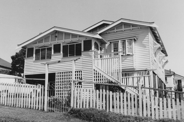 A photograph from the Corley Collection on display at the State Library of Queensland.