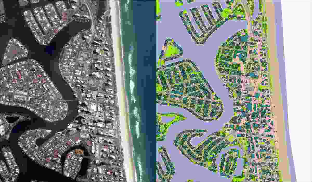 Geoscape data of Surfers Paradise.