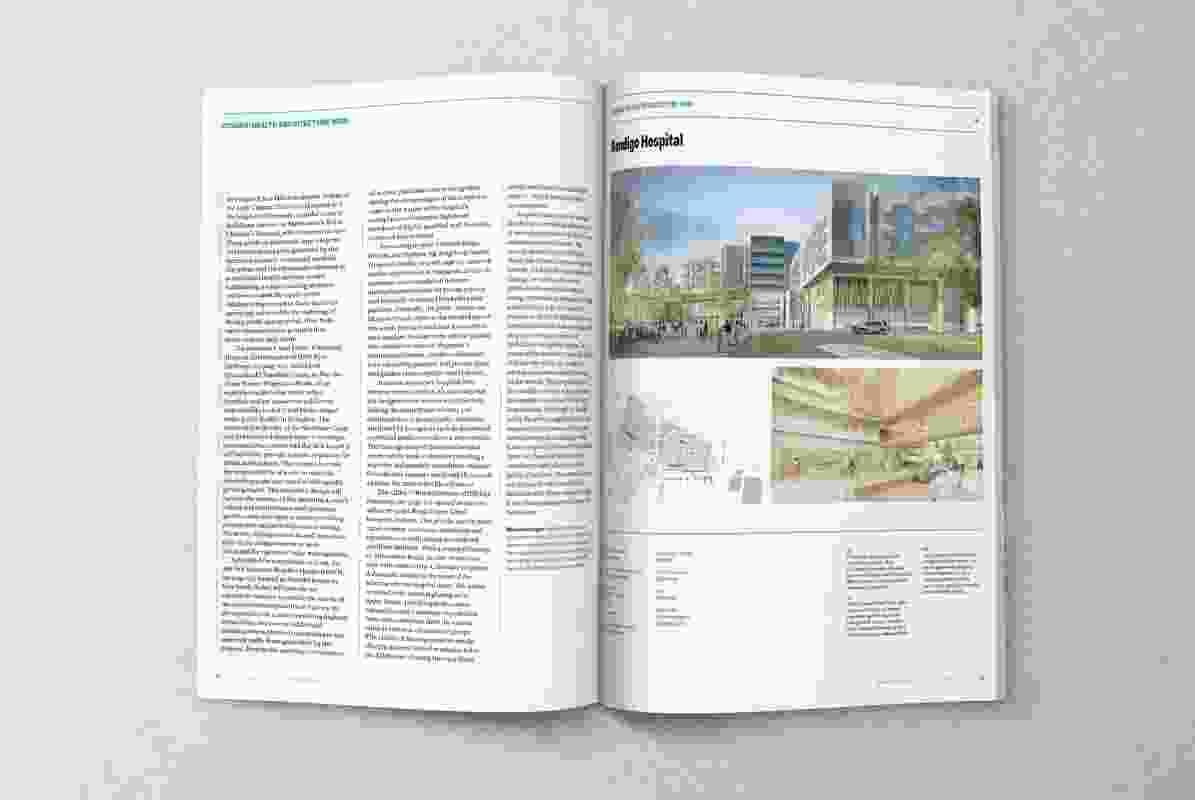 The healthcare-themed Dossier featuring Bendigo Hospital, a project by Bates Smart.