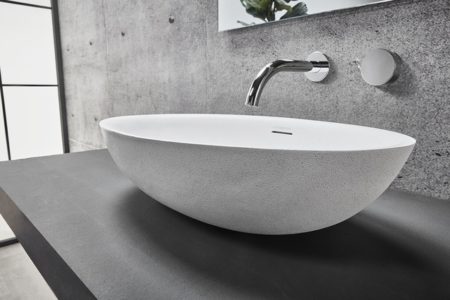 The Claybrook Ellipse bench-mounted basin.
