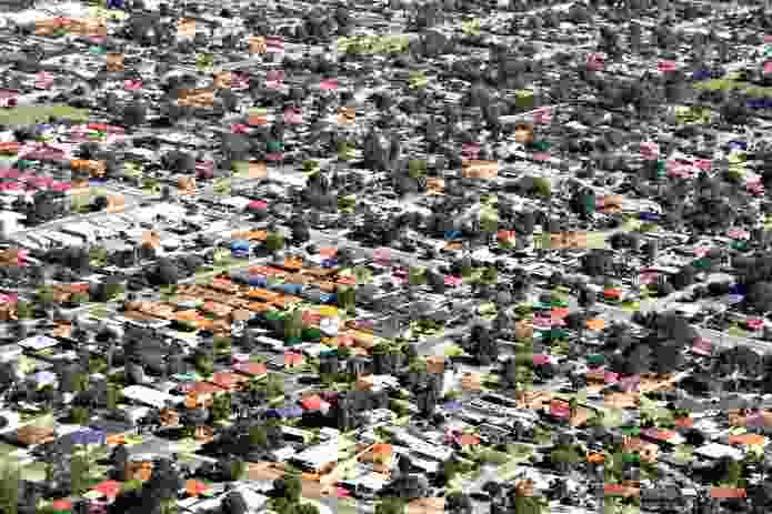 An Australian suburb from the air.