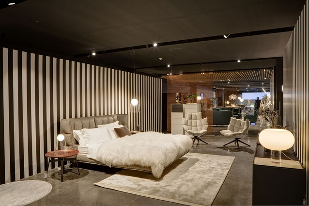 The new B&B Italia floor at the Space Furniture showroom in Sydney.