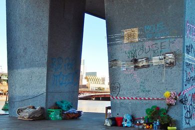 Memorial to 'Mouse' at Melbourne's Enterprize Park.
