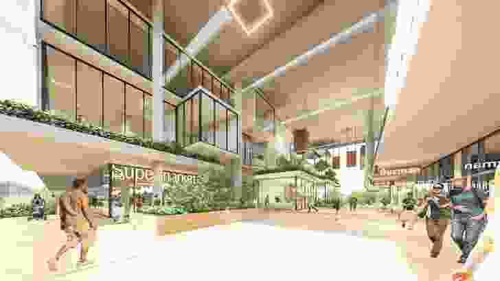 The proposed retail building by Bureau Proberts.