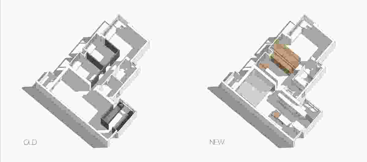 Reconfiguration of apartment 26D in Hong Kong by MODO.