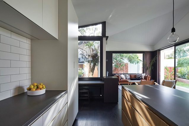 Sharply detailed but eschewing flashy finishes, the kitchen epitomizes the simple, pragmatic and respectful brief.