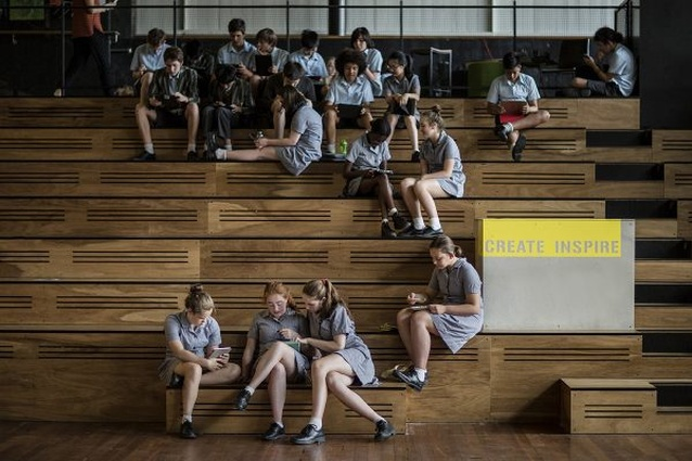 Albert Park College Environmental Arts Hub by Six Degrees Architects.