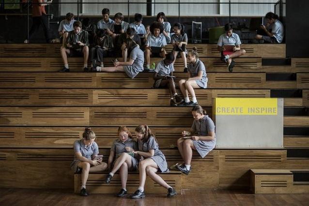 Albert Park College Environmental Arts Hub by Six Degrees Architects.