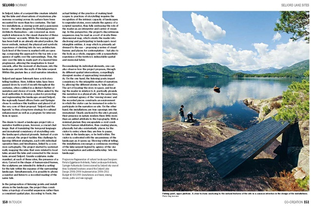 Spread from<em>In Touch,</em> showing Seljord Lake Sites in Norway.
