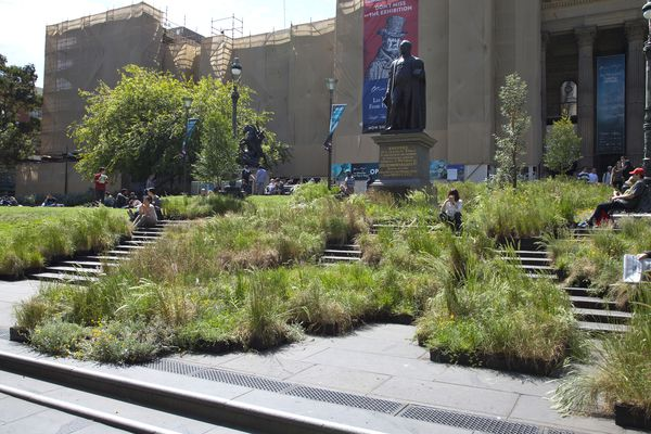 Grasslands installation at the State Library of Victoria.