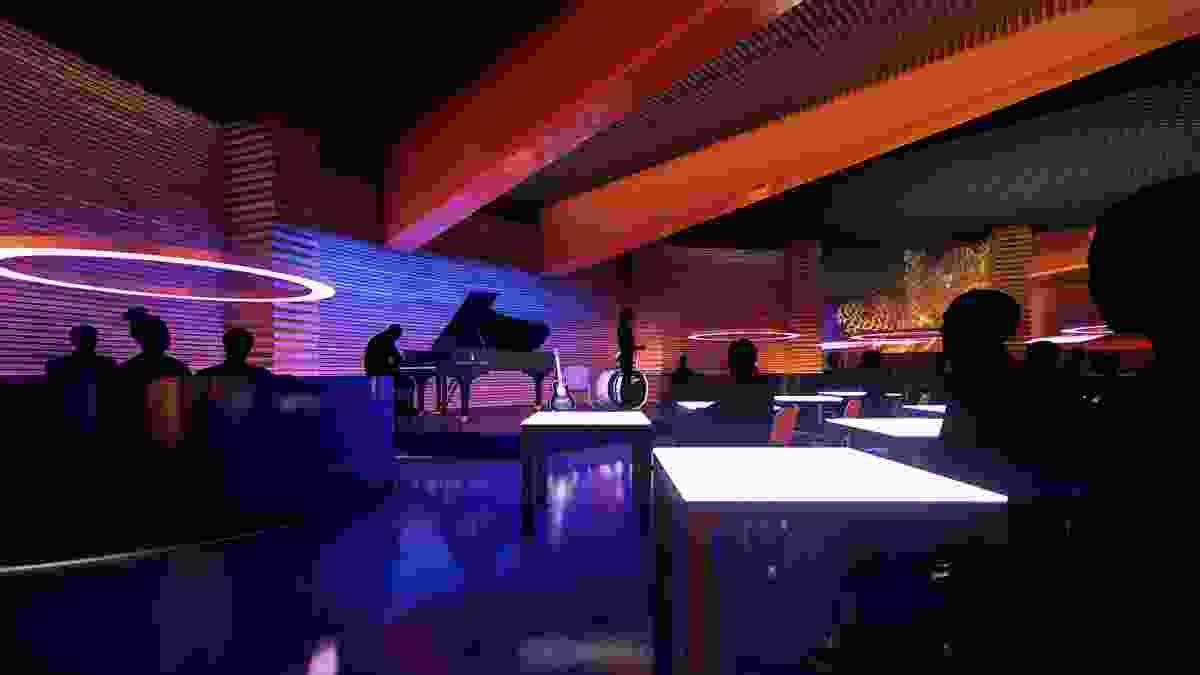 A jazz bar at the proposed MONA Motown by Fender Katsalidis.