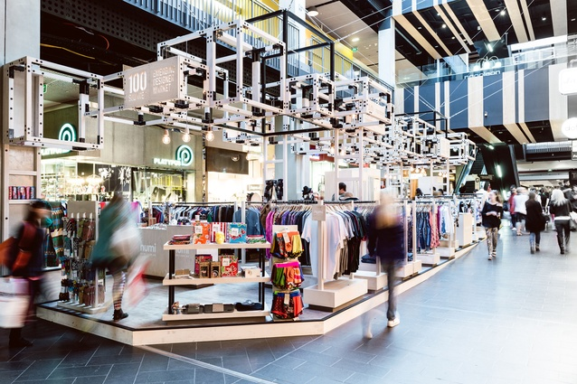 One Hundred Squared Retail Store by Aych And Innate Design.