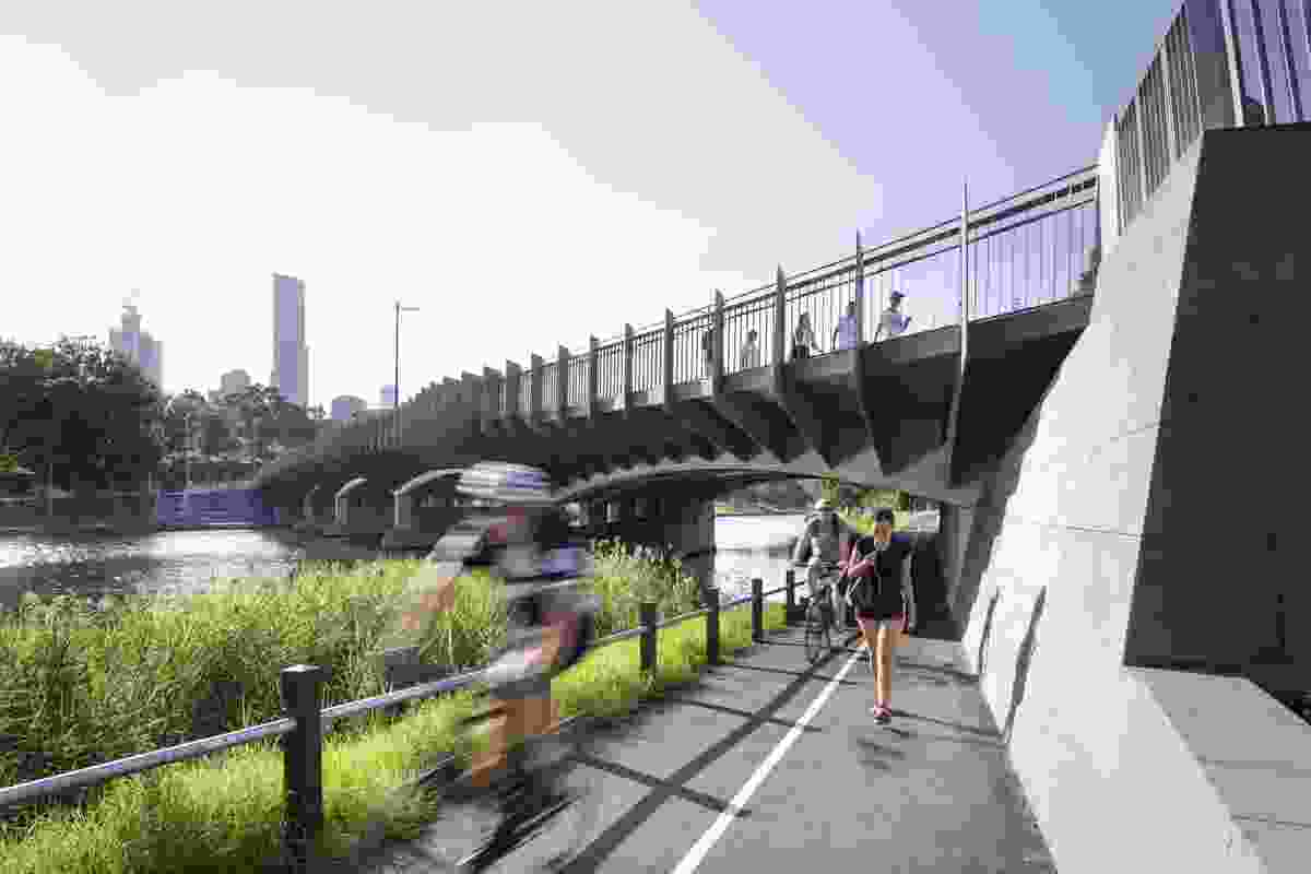 Swan Street Bridge Upgrade by BKK Architects with McGregor Coxall and Relume