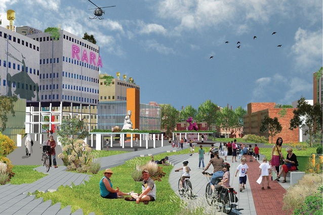 The winning proposal for Royal Adelaide Hospital design competition by SLASH with Phillips/Pilkington Architects.