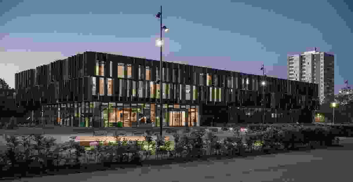 Brøndby Community Center in Brøndby Strand, Denmark, by Link Arkitektur.