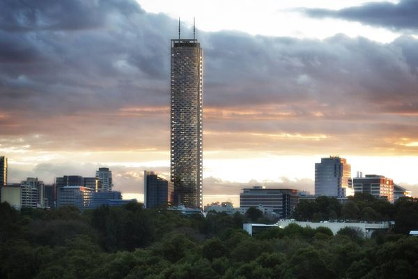 The original Aspire Tower design by Grimshaw Architects.