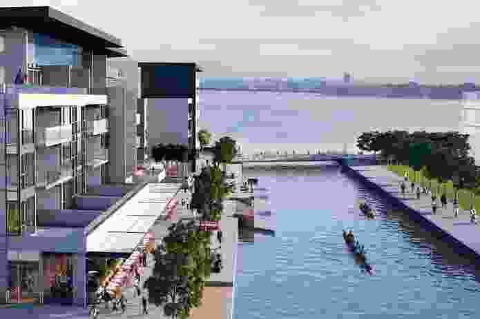 Kingston Foreshore: An artist's impression.
