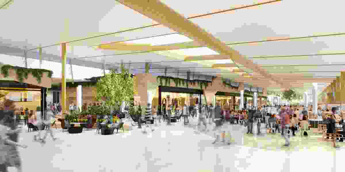 Retail lounge in the Gold Coast Airport redevelopment, Project LIFT, by Cox Architecture.