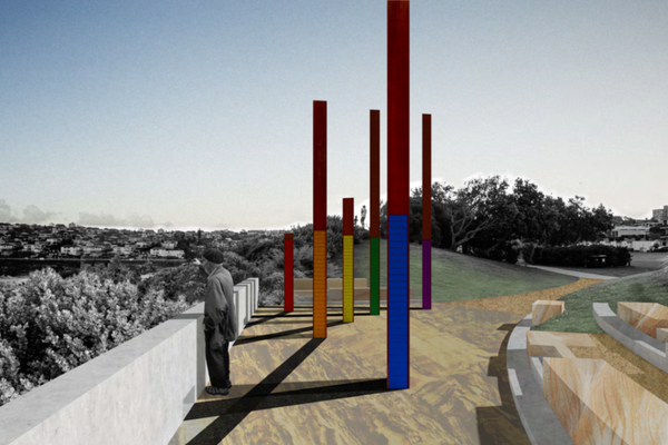 Bondi memorial proposal by Jane Irwin Landscape Architecture and McGregor Westlake Architecture.
