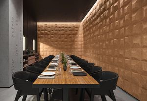 Design professionals can accentuate walls using a tapestry of 3D Cork tiles.