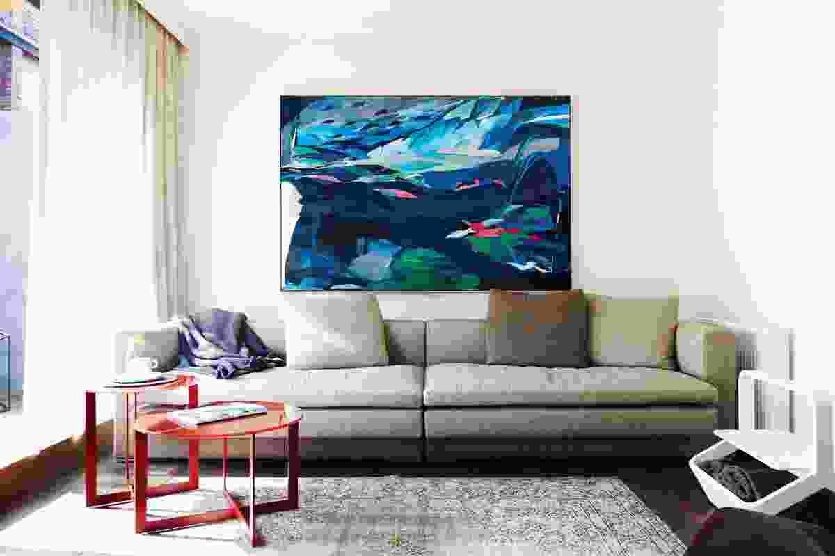 First floor living area. Artwork: Amber Wallis, Dark Gully/Psychic War.