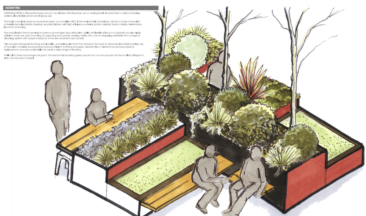 """Green Park"" submission to the Canberra micro park design competition."