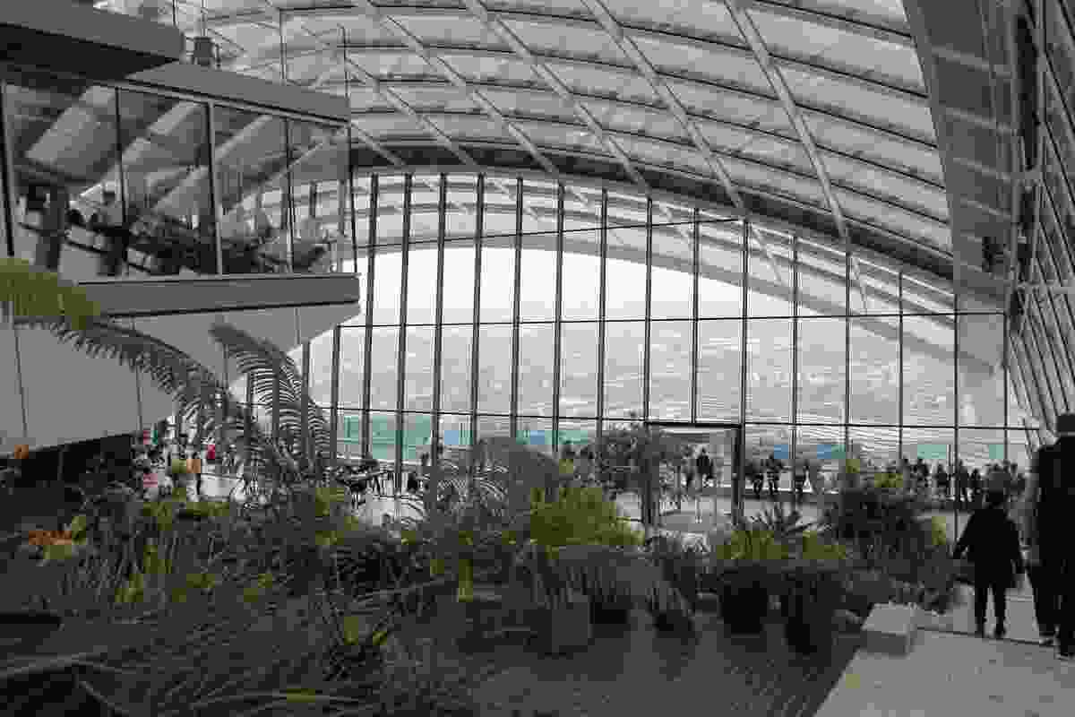 Skygarden at 20 Fenchurch Street, the Walkie Talkie by Rafael Vinoly with Gillespie Landscape Architects, 2010–2014.