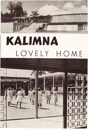 <i>Kalimna: Lovely Home</i> pamphlet cover.