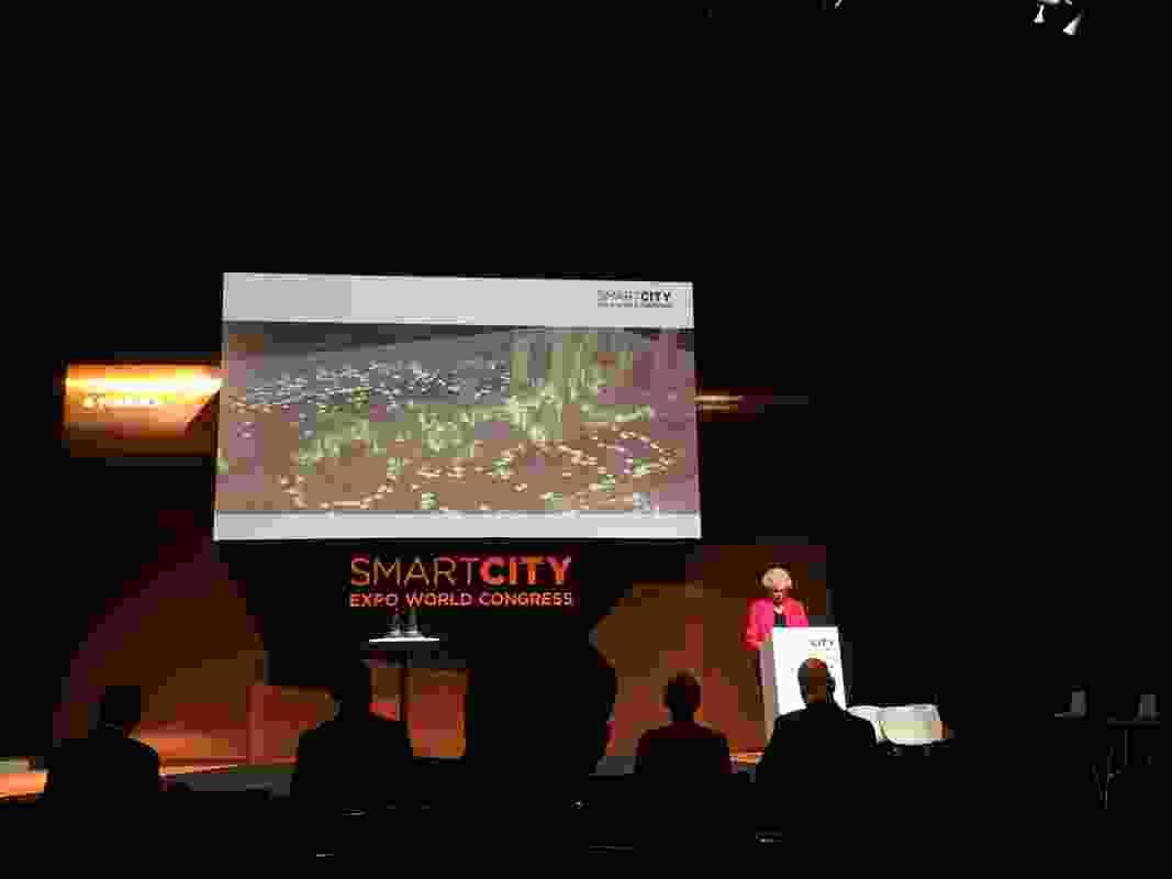 City of Melbourne councillor Susan Riley presented the city's open data program at the 2018 Expo.
