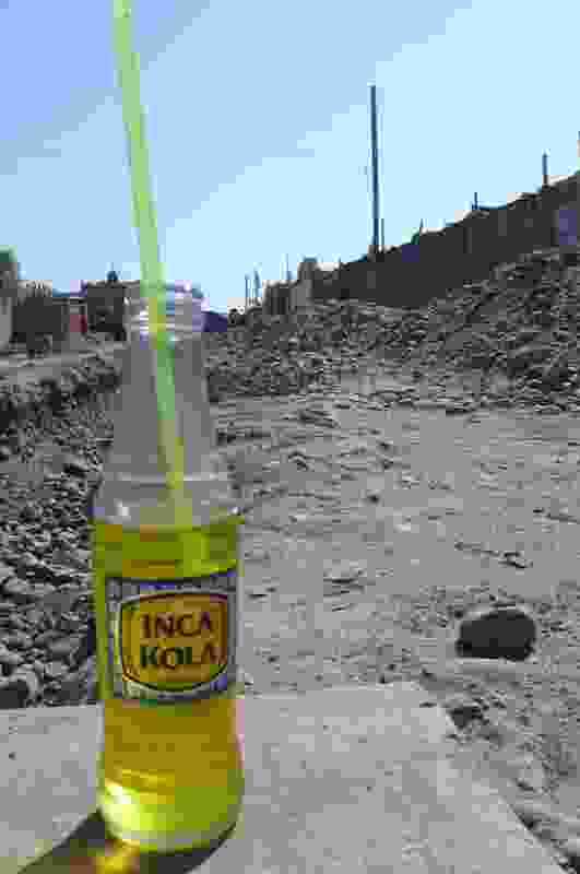 Behind the local soda is a road that was dug up by the local municipality months ago ready to finally bring in services, including water and sewerage, to the local community. Months on and all they've achieved with these trenches is to make the dwellings along these roads inaccessible to vehicles, including fearless tuk-tuks. No services have been laid to date.