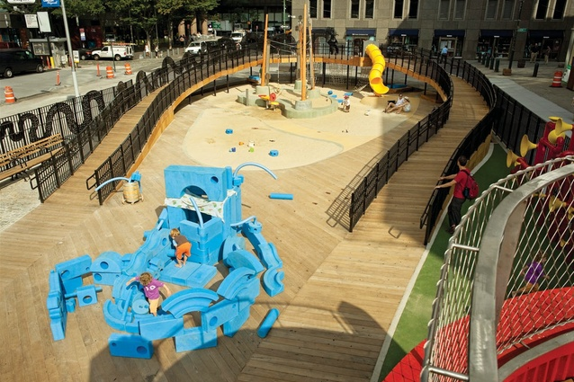 Imagination Playground by David Rockwell and KaBOOM!, NYC.